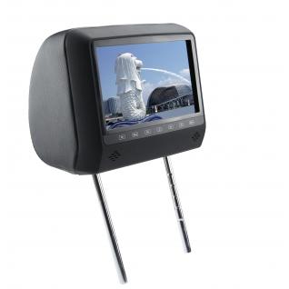 """Подголовник с монитором 7"""" и встроенным DVD плеером FarCar-Z006 (Grey)-36994964"""