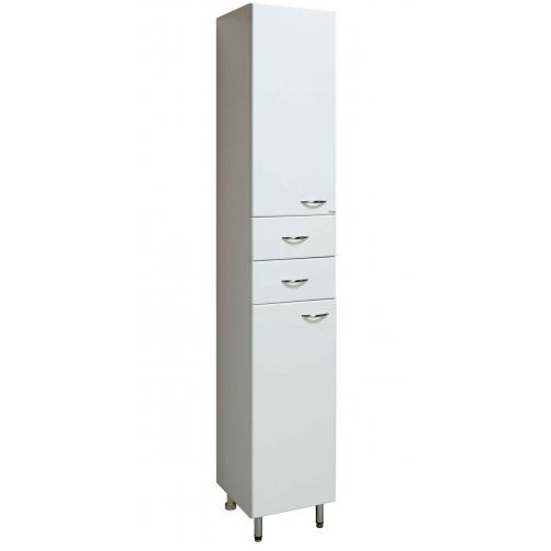 Шкаф-пенал Runo 40 левый, белый-6802929