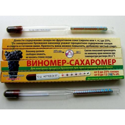 Виномер - сахаромер 0-25 %-716275