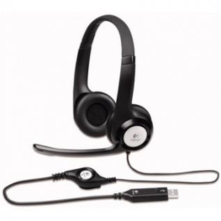 Гарнитура Logitech Headset H390 USB черн. (981-000406)