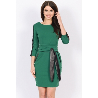 Трикотажное платье с поясом ML 45001190-6663709
