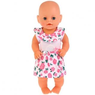 Одежда для кукол 40-42 см, платье 'розы', в пакете, Карапуз в кор.100шт-37797022