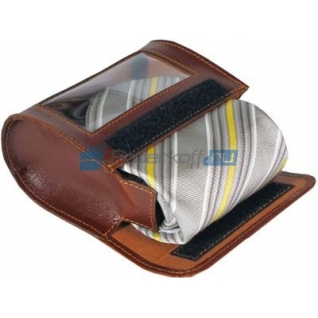 Футляр для галстука Alessandro Venanzi, коричневый-5864719