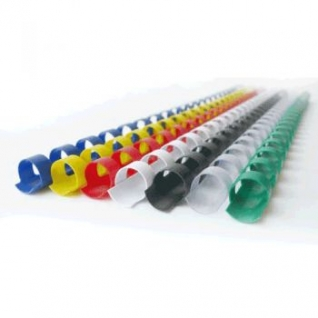 Пластиковые пружины 6 мм для переплета (21 кольцо) красные-398996