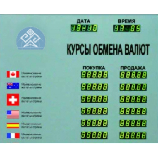 Табло котировок валют CERB-6-448022