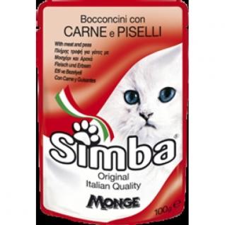 Monge Simba Cat Pouch паучи для кошек мясо с горохом 100 г