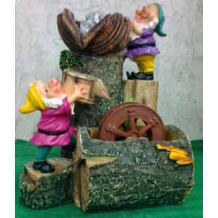 Декоративный фонтан | Настольный для дома | Гномы и мельница-5255072