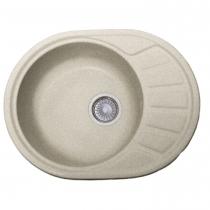 Круглая мойка с одной чашей и сушкой (небольшой рабочей поверхностью) FOSTO КМ 58-45