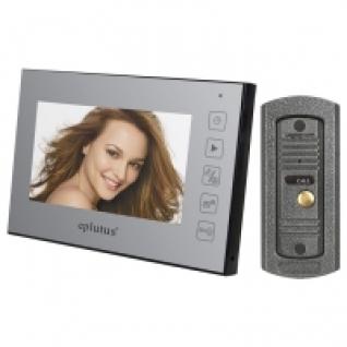 Комплект видеодомофона для квартиры, частного дома с вызывной панелью и записью на карту SD Eplutus EP-2231-5006152