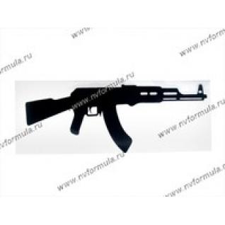 Наклейка Калашников 12х40см черная-431558