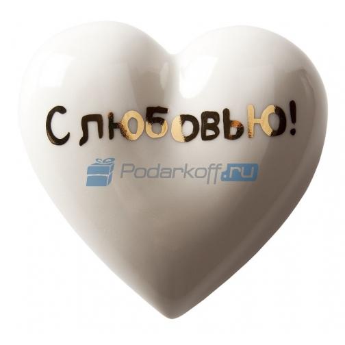 """Фарфоровое сердце «Белое сердечко""""-5864395"""