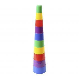 Занимательная пирамидка №2 (10 элементов) (в пакете) Полесье