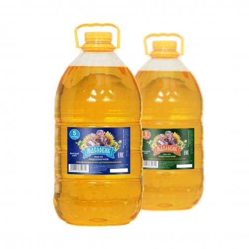 Масло подсолнечное не раф, 5л-459041
