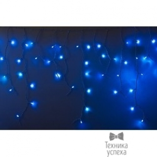 Neon-night Гирлянда Айсикл (бахрома) светодиодный, 2,4 х 0,6 м, белый провод, 220В, диоды синие 255-033-6