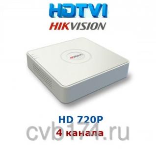 4-канальный HD-TVI видеорегистратор Hikvision HiWatch DS-H104G
