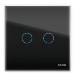 Двухлинейная панель стеклянная черная cgss wt-p02b-5998641
