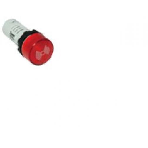 Зуммер моноблочный с подсветкой, 24В пост./перем. тока, постоянная громкость MBZS024S ЕМАС 900609