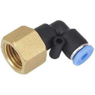 """Фитинг угловой для пластиковых трубок 6мм с внутренней резьбой 1/4"""" Partner-6003668"""
