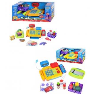 """Игровой набор """"Мой магазин"""" с кассой (свет, звук), 20 предметов Joy Toy-37712286"""