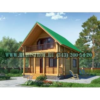 "Проект ""ФОМИНО"" из профилированного бруса 145 х 140 мм, размер 7,5 х 6, площадь дома 80 кв.м."