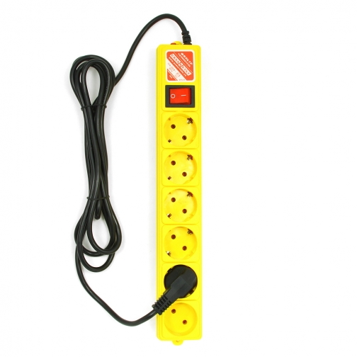 Фильтр-удлинитель Power Cube 3,0 м 6 розеток (желтый) 10А/2,2кВт-6439802