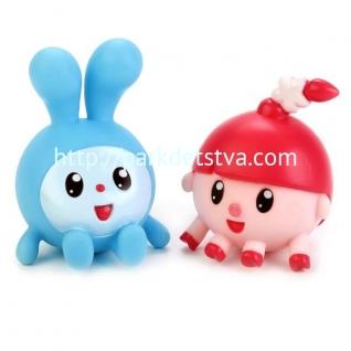 Игрушки для купания Играем вместе Малышарики (Крошик+Нюшенька) в сетке-37700610