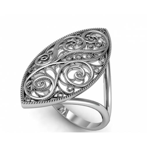 Кольцо из серебра ПРИВОЛЖСКИЙ ЮВЕЛИР 253434 253434 ПРИВОЛЖСКИЙ ЮВЕЛИР-8918378