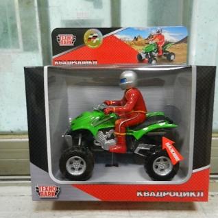 Металлический квадроцикл с фигуркой (свет, звук), 12 см Технопарк-37746339