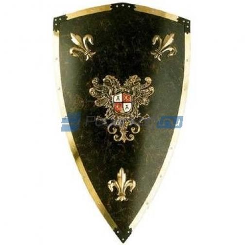 Щит рыцарский темно зеленый-6821521