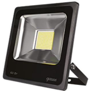 Gauss Прожектор светодиодный Gauss LED 60W IP65 6500К черный 1/5