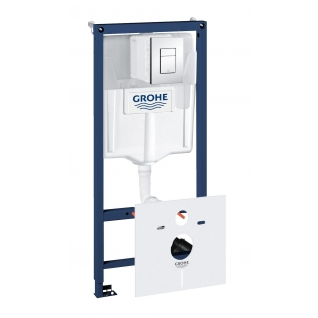Система инсталляции для унитаза GROHE Rapid SL с панелью смыва (3 режима), комплект 5-в-1 (1,13 м) (38827000)-6757930