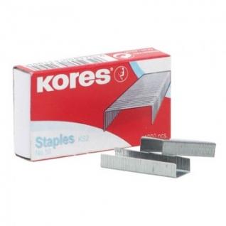 Скобы для степлера N10 KORES никелированные (2-20 лист.) 1000 шт в упаковке