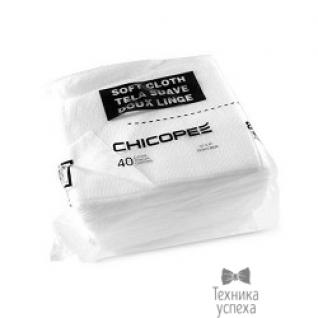 KATUN 707338 Салфетки для чистки оптики и фотобарабанов Chicopee Soft Cloth (Katun) пак/40шт. (11599) белые)