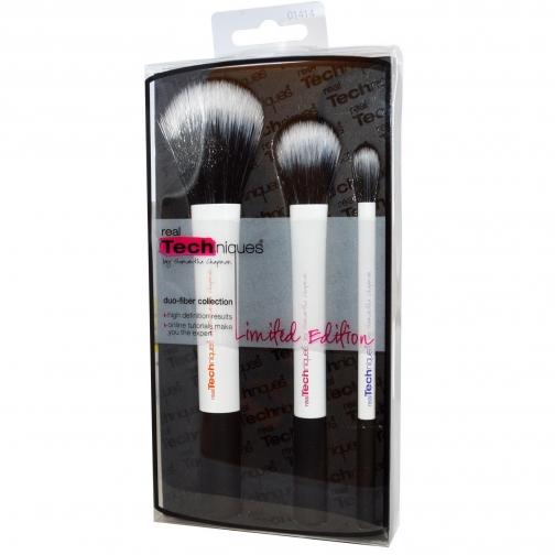 Профессиональные кисти для макияжа - Набор кистей для макияжа Real Techniques Duo-Fiber Collection-2147474