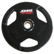 Johns Диск 25 кг обрезиненный JOHNS 91010-25В d–51мм,3-х хватовый