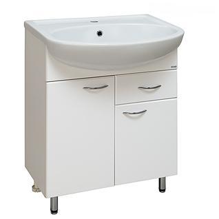 Тумба для ванной Runo Уют 60 без Раковины (Уют 60) с Ящиком Белая