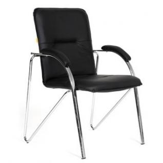 Кресло для посетителей CHAIRMAN 850 (CH-850)(Samba) цвет черный, хром-9154005