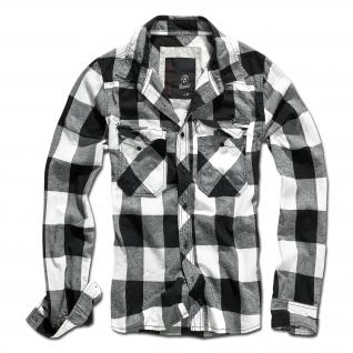 Brandit Рубашка Brandit в клетку, цвет черно-белый-5027430