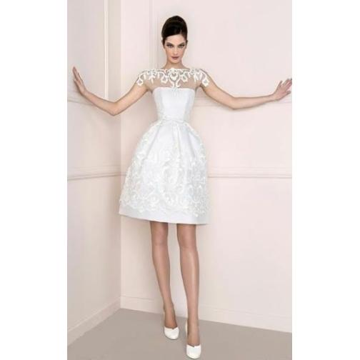 Платье свадебное Короткие свадебные платья⇨Белый Тюльпан-661974