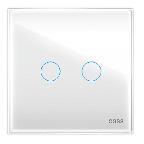 Двухлинейная панель стеклянная белая cgss wt-p02w-5998628