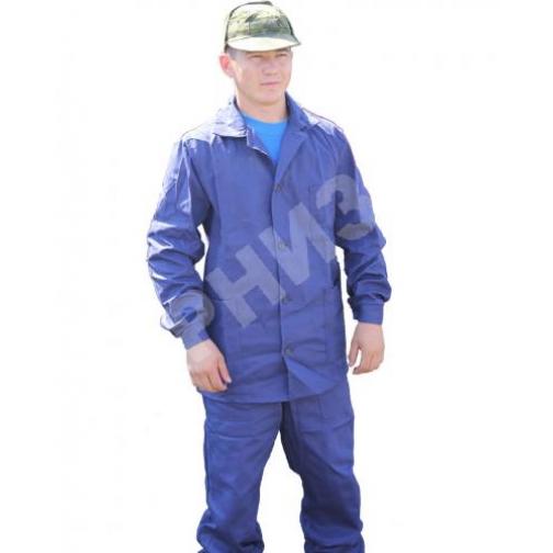 Костюм рабочий х/б синего цвета старого образца-10813