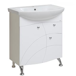 Тумба для ванной Runo Балтика 70 без Раковины (Балтика 70) Белая