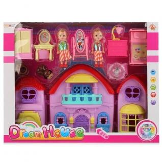 Дом для кукол, с мебелью, фигурками и аксесс., в ассорт. 8150-4 в кор. в кор.2*12шт-37794090