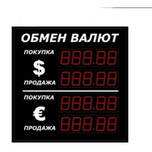 Боковая консоль валют с пятизначным индикатором на 2 валюты (Москва)-6782790