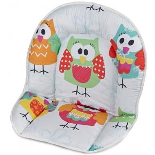 Вставка для стула Geuther Мягкая вставка для стульев Family, Filou белая с совами (цвет 131)-1962622