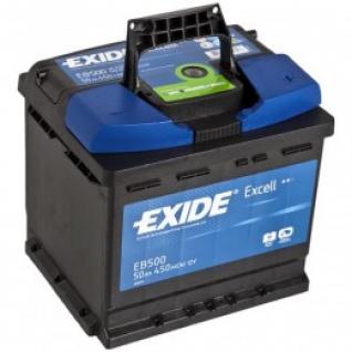 Автомобильный аккумулятор EXIDE EXIDE Excell EB500 (50R) 450А обратная полярность 50 А/ч (207x175x190)-5789051