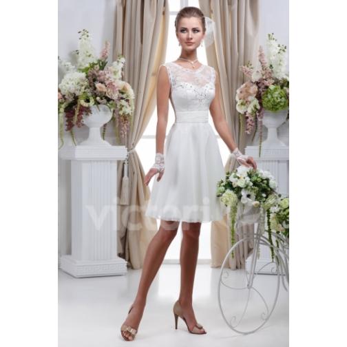 Платье свадебное Короткие свадебные платья⇨Лесли-661976
