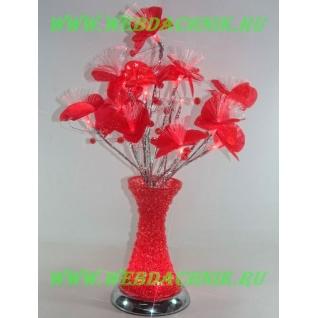 Светодиодные цветы в вазе, Rose crystal LED 50 см., цвет: Красный-5254688