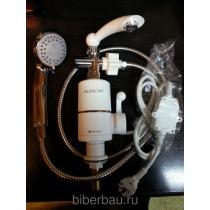 Кран мгновенного нагрева воды с душевым комплектом Акватерм (Аквасан 201 ...