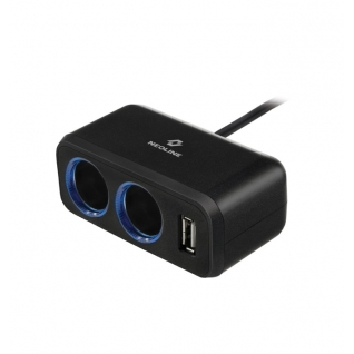 Разветвитель на 2 прикуривателя 1 USB Neoline SL-211 Neoline-833064